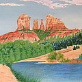 Red Rock Crossing Print by Aimee Mouw