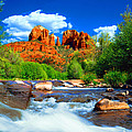 Red Rock Crossing Print by Frank Houck