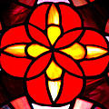 Red Stained Glass Poster by LeeAnn McLaneGoetz McLaneGoetzStudioLLCcom