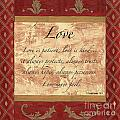Red Traditional Love Poster by Debbie DeWitt
