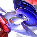 Red White and Blue Abstract Poster by Alexander Butler
