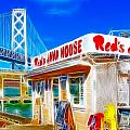 Red's Java House Electrified Print by Wingsdomain Art and Photography