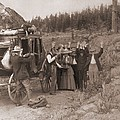 Reenactment Of A Stage Coach Robbery Poster by Everett