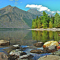 Reflections Glacier National Park  Print by Michael Peychich