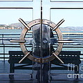 Reflections of Alcatraz Island at The Maritime Museum in San Francisco California . 7D14080 Print by Wingsdomain Art and Photography