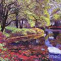 Reflections of Azalea Blooms Poster by David Lloyd Glover