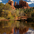 Reflections of Sedona Poster by Joshua House