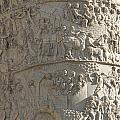 Relief. detail view of the Trajan Column. Rome Print by Bernard Jaubert