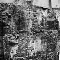 remains of an old historic house with multiple fireplaces in the wall of the old town aberdeen scotl Print by Joe Fox