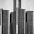 Renaissance Center - Black and White Print by Alanna Pfeffer
