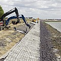 Renewing Shore Defences, Netherlands Print by Colin Cuthbert