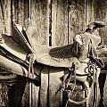 Retired Saddle Poster by Christine Hauber