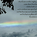 Revelation 10 Rainbow Poster by Cindy Wright