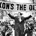 Richard Nixon, Delivering His The V Poster by Everett
