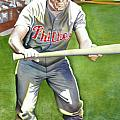 Richie Ashburn Topps Print by Robert  Myers