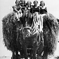 Ride On A Hay Cart Poster by Fox Photos