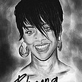 Rihanna Smiles Print by Kenal Louis
