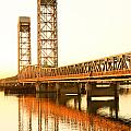 Rio Vista Bridge Sunrise Print by Troy Montemayor