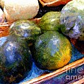 Ripe and Luscious Melons Print by RC DeWinter