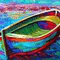 Riviera Boat I Print by Marion Rose