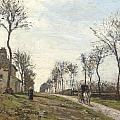 Road in Louveciennes Print by Camille Pissarro