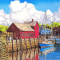 Rockport Cove Poster by David Linton
