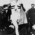 Roger Bannister Crossing The Finish Poster by Everett