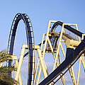 Roller Coaster Track Print by Skip Nall