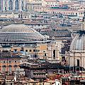Roman Rooftops Print by Andy Smy
