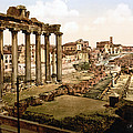 Rome, Ruins Of The Temple Of Saturn Poster by Everett