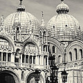 Roof and Facade of St Mark Basilica  Poster by George Oze