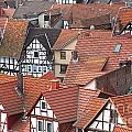 Roofs of Bad Sooden-Allendorf Print by Heiko Koehrer-Wagner