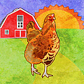 Rooster Poster by Mary Ogle