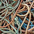 Rope Background Print by Carlos Caetano