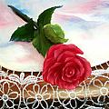 Rose and Lace Poster by Joni McPherson