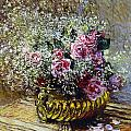 Roses in a Copper Vase Poster by Claude Monet