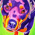 Rottweiler - Summer Puppy Love Poster by Alicia VanNoy Call