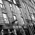 row of old granite houses and shops on the green aberdeen scotland uk Print by Joe Fox