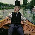 Rower in a Top Hat Print by Gustave Caillebotte