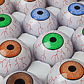 Rows of eyeballs Print by Garry Gay