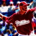 Roy Halladay Magic baseball Print by Paul Van Scott