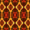 Ruby Glow Pattern Print by Amy Vangsgard