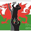 Rugby Wales Poster by Aloysius Patrimonio