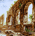 Ruins Of Roman Aqueduct, 18th Century Poster by Science Source