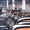 Rush Hour Approach To The Midtown Tunnel NYC Poster by Al Goldfarb