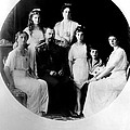 Russian Royal Family Left To Right Print by Everett