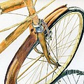 Rusty Beach Bike Print by Norma Gafford