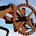 Rusty gears mechanism Poster by Sami Sarkis
