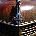 Rusty Old 1935 International Truck Hood Ornament. 7D15503 Print by Wingsdomain Art and Photography