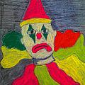 Sad Clown Poster by Robyn Louisell